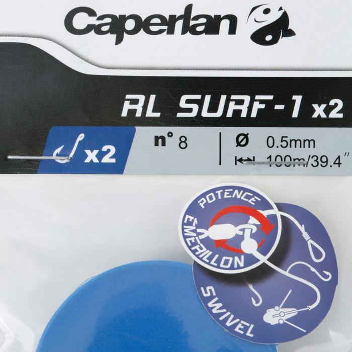Bas de ligne de pêche en surfcasting RL SURF-1 2xH8 x2