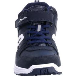 Chaussures marche enfant Protect 560 cuir marine / blanc