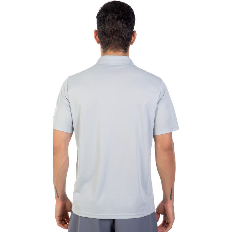 เสื้อโปโลเพื่อการเล่นกีฬาแร็คเกตสำหรับผู้หญิง 700 (สีเทา)