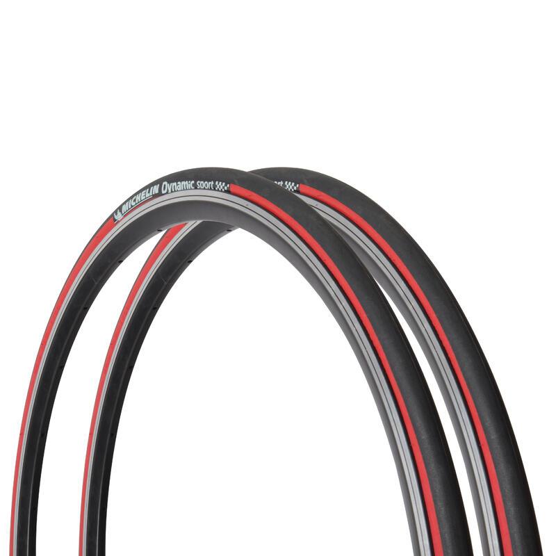 Yol Lastiği - Kırmızı - 700x23 / Etrto 23-622 - Dynamic