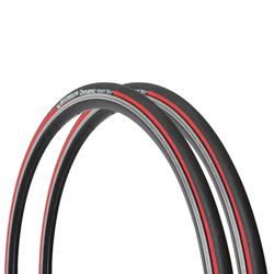 PAIRE DE PNEUS ROUTE MICHELIN DYNAMIC SPORT ROUGE 700x23