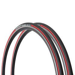 Set van 2 racebanden Dynamic Sport rood 700x23 ETRTO 23-622