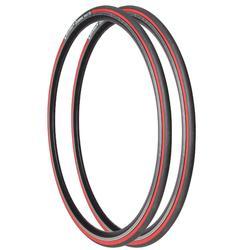 Fahrradreifen Drahtreifen Rennrad 2 Stk. Dynamic Sport 700×23 (23-622) rot