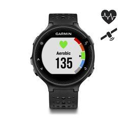 Gps-horloge met hartslagmeting aan pols Forerunner 235 HRM zwart/grijs