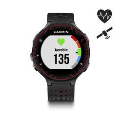 Gps-horloge met hartslagmeting Forerunner 235 HRM zwart rood