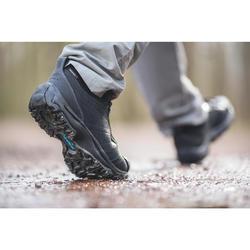 Walkingschuhe wasserdicht Nakuru Novadry Herren Leder schwarz