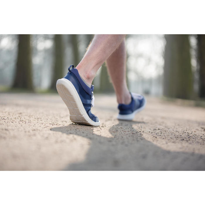Chaussures marche sportive homme Soft 100 Mesh bleu foncé - 950308