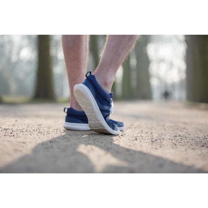 Chaussures marche sportive homme Soft 100 Mesh bleu foncé - 950309