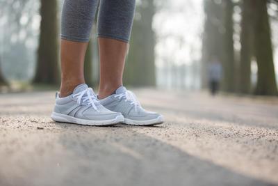 Soft 100 Mesh Women's Fitness Walking Shoes - Light Grey