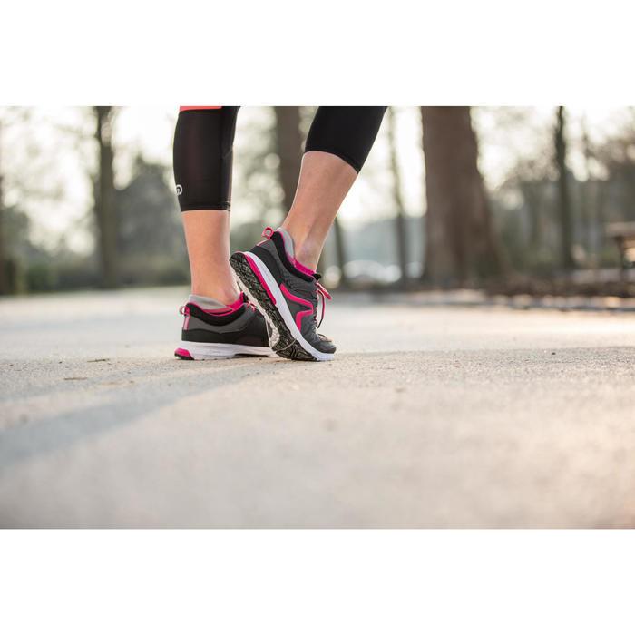 Damessneakers PW 240 grijs/roze