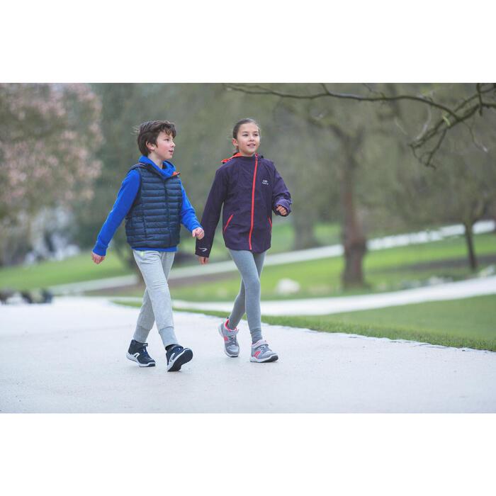 Kindersneakers voor wandelen Protect 560 leer grijs / turquoise