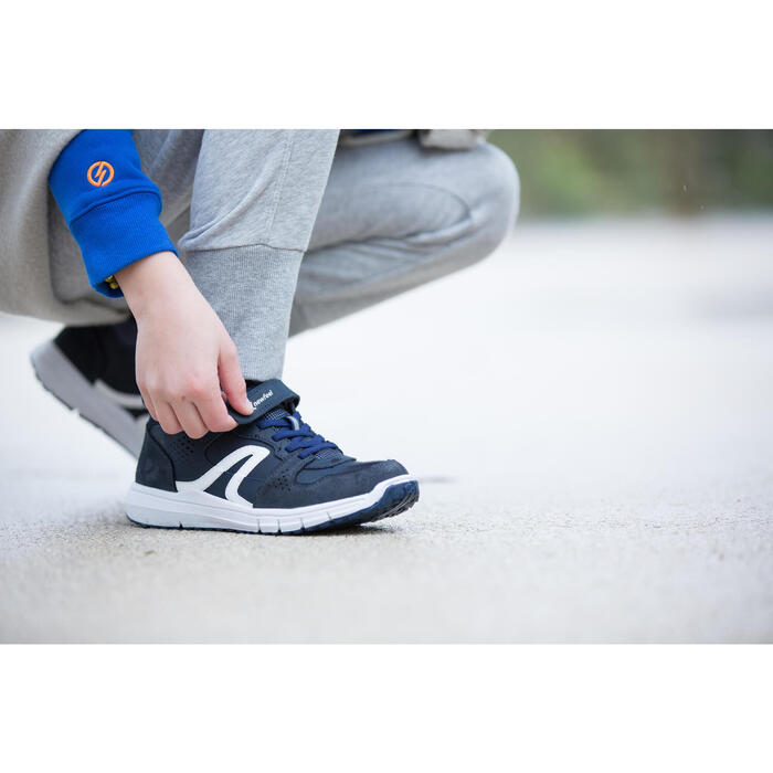 Sportschuhe Protect 560 Kinder Leder marineblau/weiß