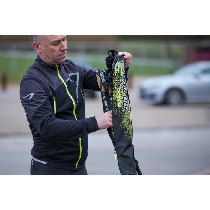 Tasche für Nordic Walkingstöcke schwarz/gelb