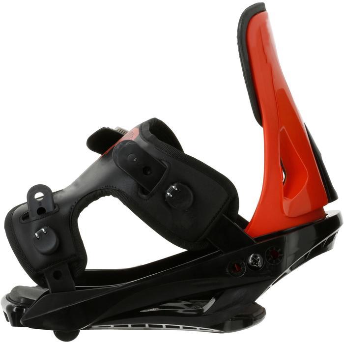 Fixations de snowboard, junior, Faky 300  noires, blanches et jaunes - 950742