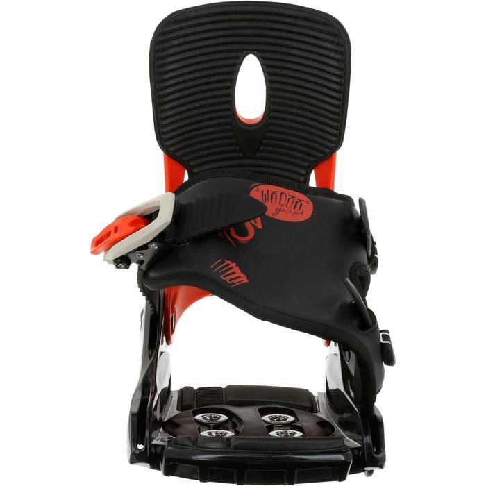 Fixations de snowboard, junior, Faky 300  noires, blanches et jaunes - 950749