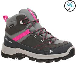 Waterdichte bergwandelschoenen voor kinderen MH500 mid grijs/roze