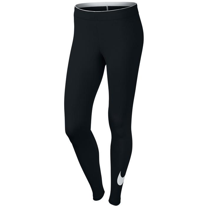Legging Swoosh Nike 100 Gym Stretching femme noir