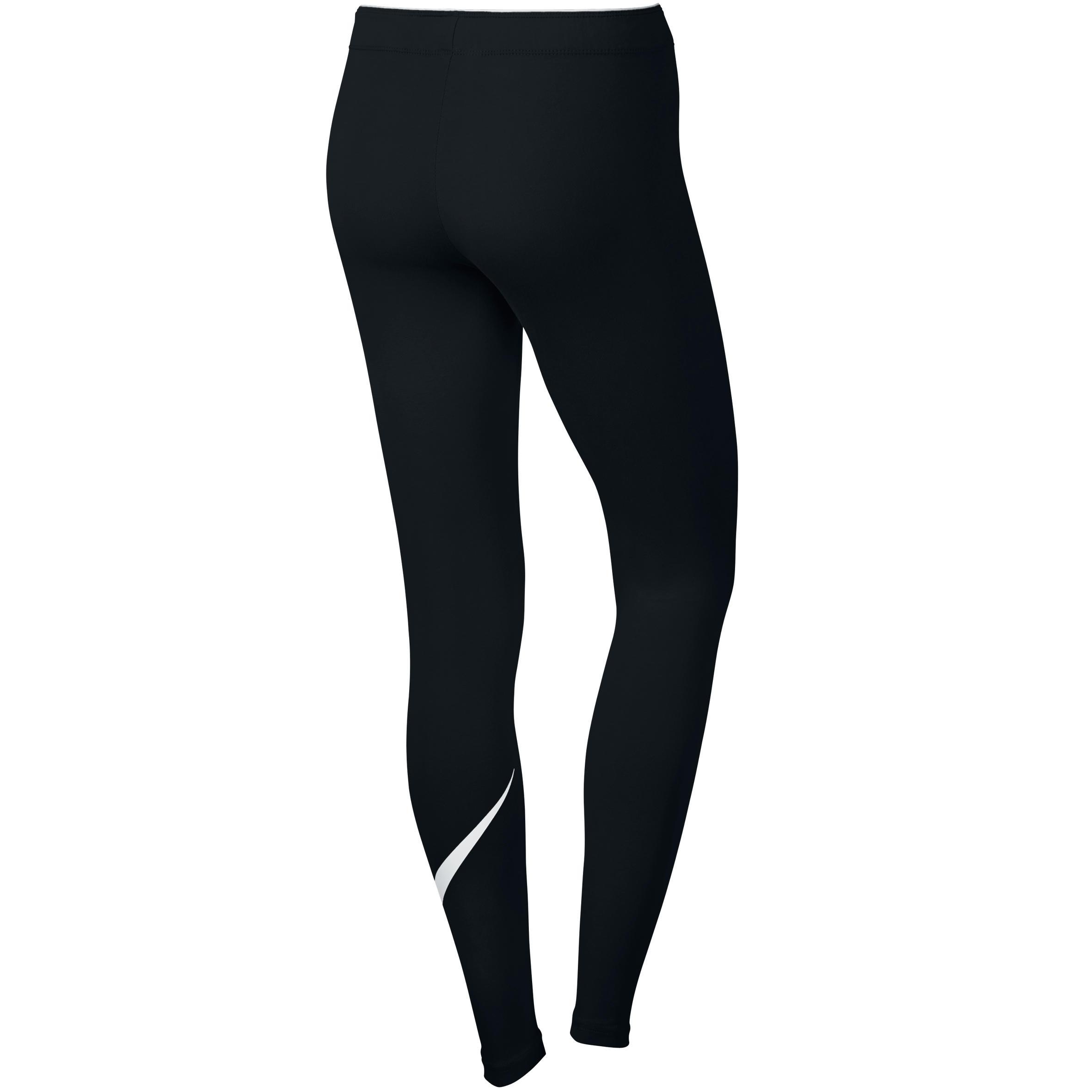 Nike Dameslegging voor gym en pilates zwart