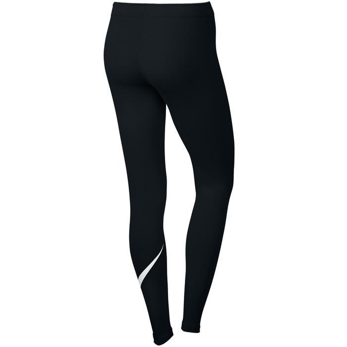 Dameslegging Swoosh Nike 100 voor gym en stretching zwart