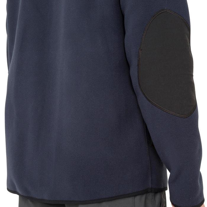 Keerbare herenfleece 500 voor zeilen zwart/donkerblauw