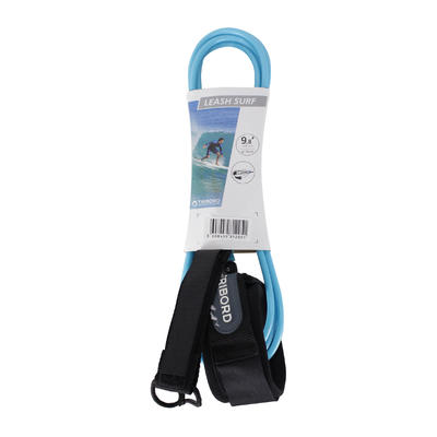 Leash surf longboard 9'8_QUOTE_ (300 cm) bleu