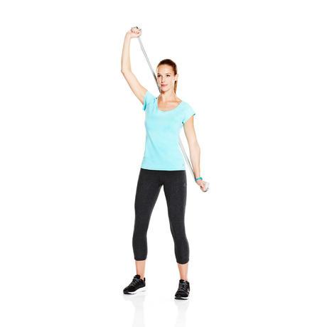 T-Shirt 500 slim Pilates Gym douce femme gris chiné. Previous. Next 175f7af52b4