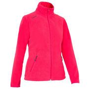 Rožnata ženska jakna iz flisa 100