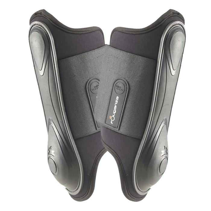 Soft Horse Riding Tendon Boots For Horse Or Pony Twin-Pack - Black - 954454