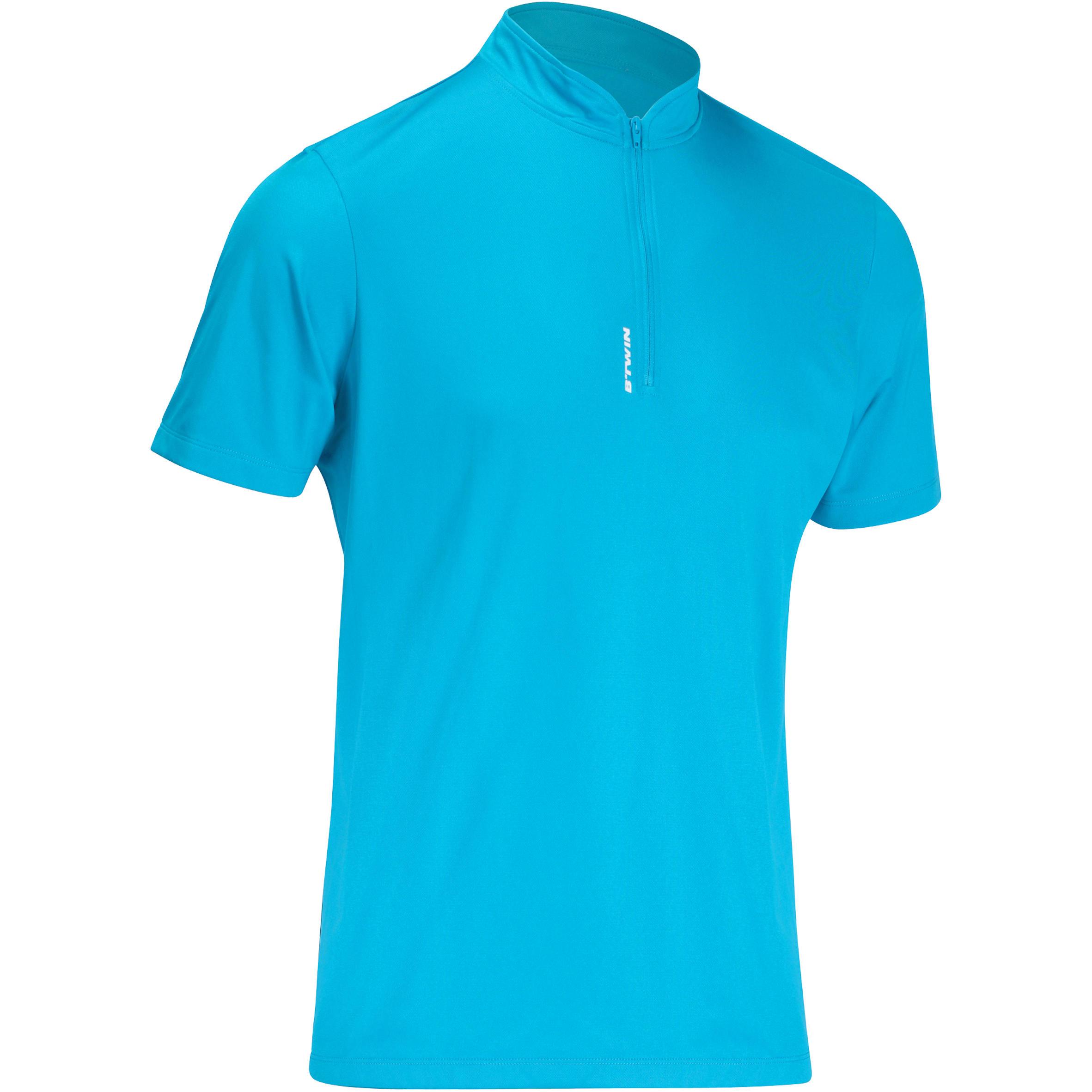 Camiseta manga corta bicicleta caballero 300 azul