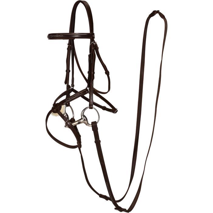 Filet + rênes équitation PADDOCK - taille cheval - 954664