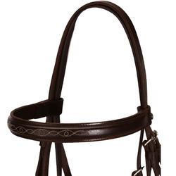 Hoofdstel + teugels Paddock ruitersport zwart- paard - 954668