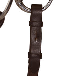 Paddock Horseback Riding Bridle + Reins For Horse - Brown