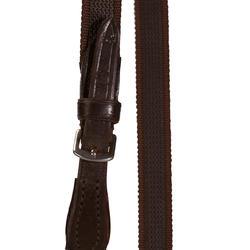 Hoofdstel + teugels Paddock ruitersport zwart- paard - 954676