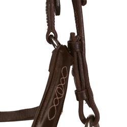 Filet + rênes équitation PADDOCK marron - taille cheval