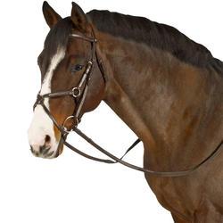 Hoofdstel + teugels Paddock ruitersport zwart- paard - 954684