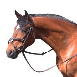 Hoofdstel + teugels Paddock ruitersport zwart- paard - 954685