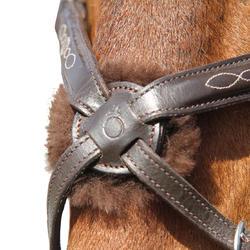 Hoofdstel + teugels Paddock ruitersport zwart- paard - 954686