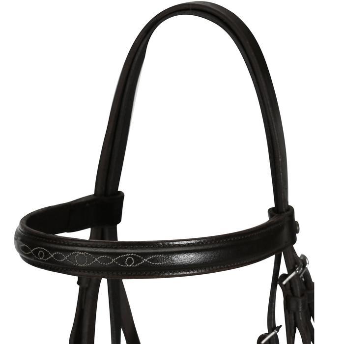 Bridon cheval noir avec rênes PADDOCK