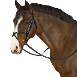 Paddock Horseback Riding Bridle + Reins for Horse - Black