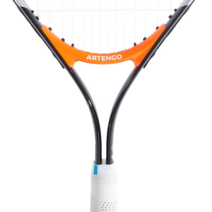 RAQUETTE DE TENNIS ENFANT TR130 25 NOIR ORANGE