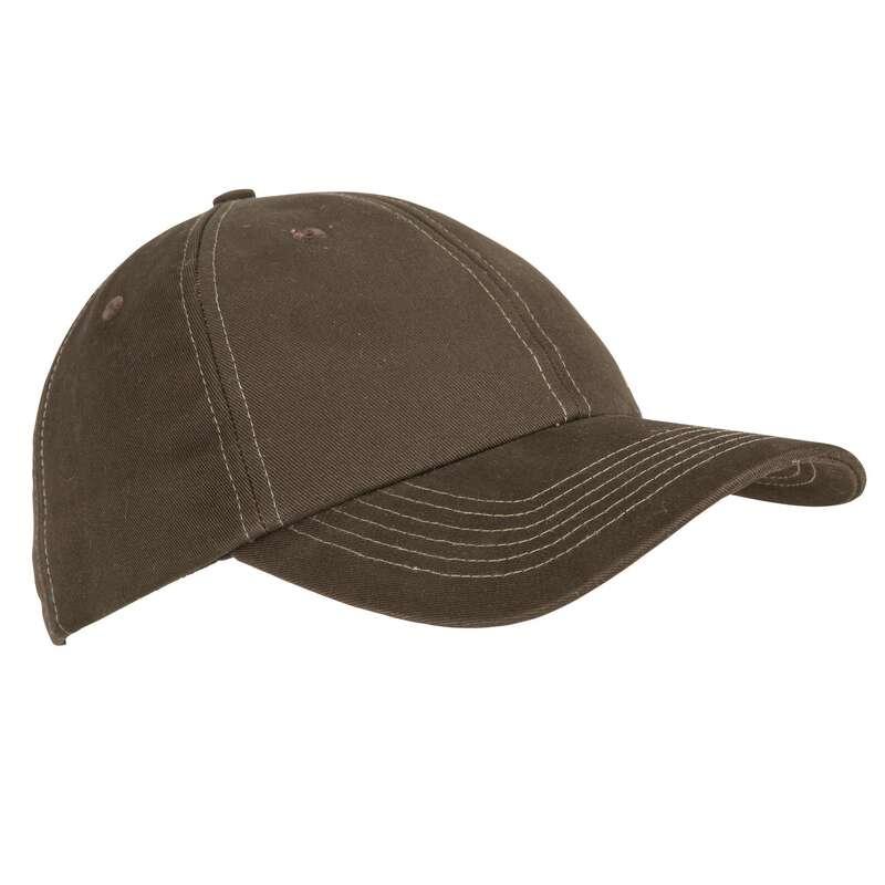 CAPS/HATS Shooting and Hunting - 100 CAP BROWN SOLOGNAC - Hunting and Shooting Clothing