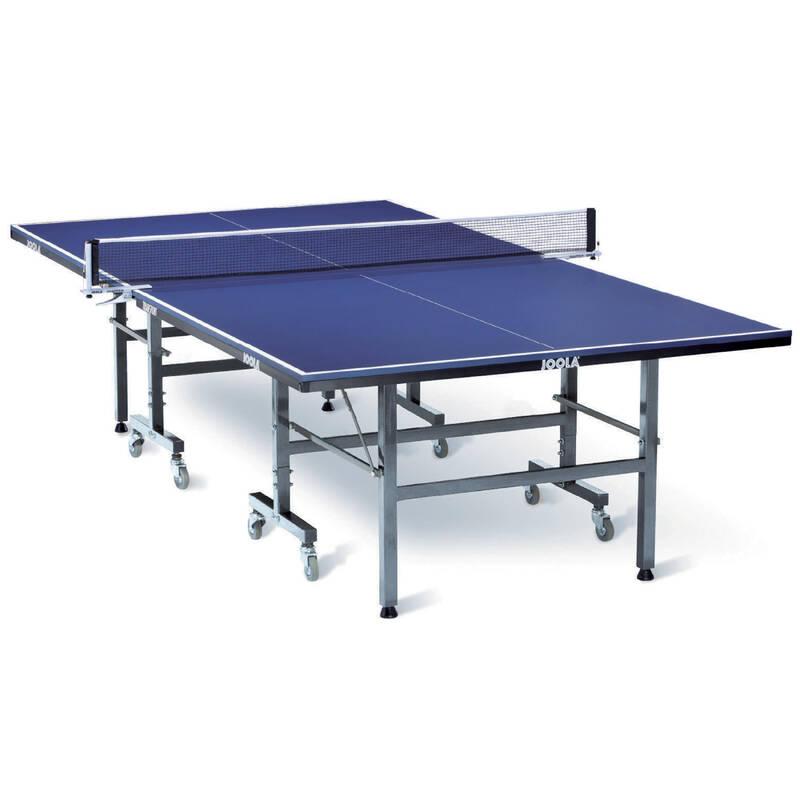 INTERIÉROVÉ STOLY NA STOLNÍ TENIS RAKETOVÉ SPORTY - STŮL TRANSPORT INDOOR JOOLA - Stolní tenis, ping pong BLUE