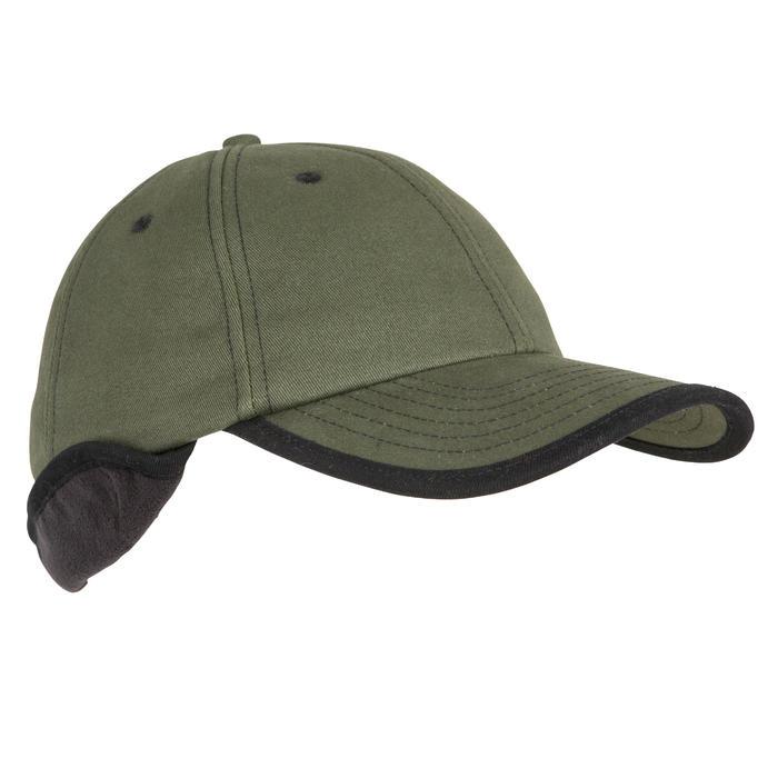 Casquette cache-oreilles chasse polaire vert