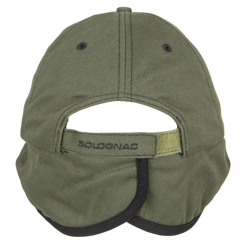 22e7f50210 Fleece Earflap Hunting Cap - green