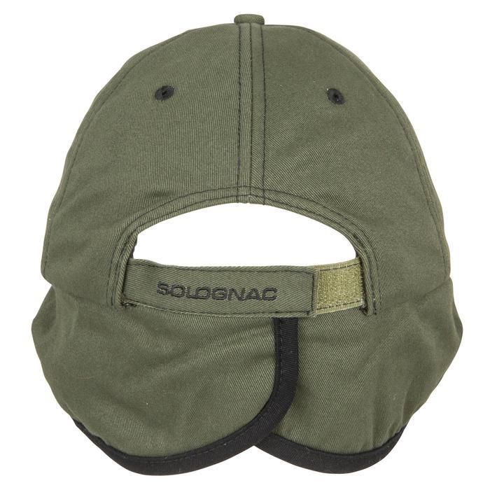 Jagd-Schirmmütze mit Ohrenklappen Fleece grün