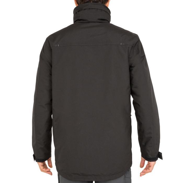 Chaqueta Cortaviento Impermeable Barco Vela Tribord CPAR 100 Hombre Negro cálida