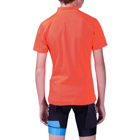 300 Kids' Short-Sleeved Cycling Jersey - Red