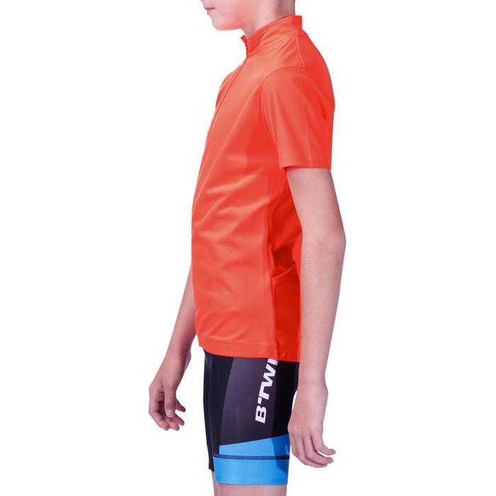 Fietsshirt korte mouwen kinderen 300 rood