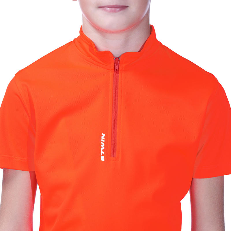 300 Kids' Short Sleeve Cycling Jersey - Red