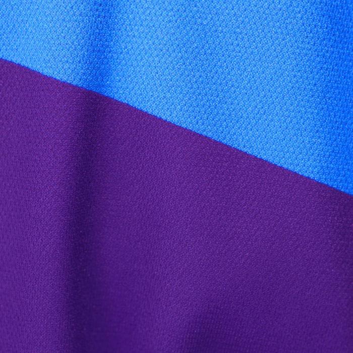 Kurzarm-Radtrikot 500 Kinder dunkelblau/hellblau